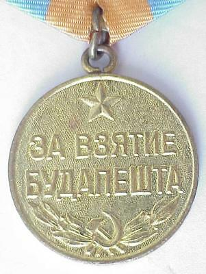 1945y. RUSSIAN SOVIET MILITARY MEDAL CAPTURE BUDAPEST AWARD WWII WAR ARMY NAVAL
