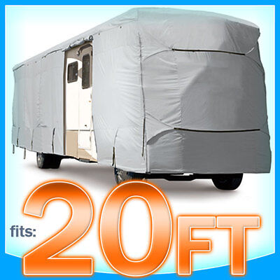 20' ft RV Cover Class A Motorhome Trailer 4 Layer Trailerpark Strap Weatherproof