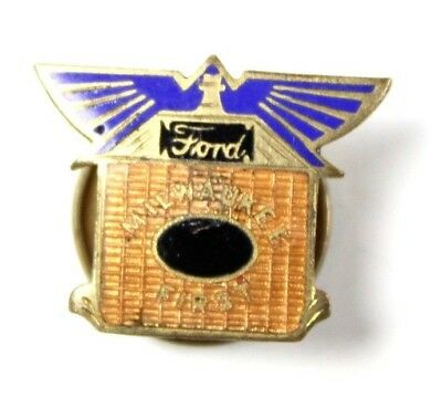 Scarce Early 20Th Century Ford Motor Milwaukee First 1St Lapel Pin Model T 1912
