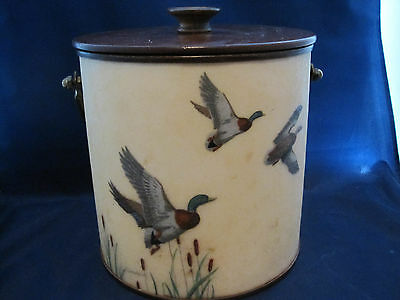 Vintage Ice Bucket - The Bacova Guild - Ducks - Grace Gilmore