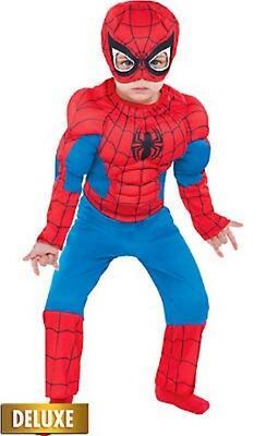 Amazing Spider-Man Toddler MUSCLE Costume Marvel Comics Size 3T-4T NEW PC130