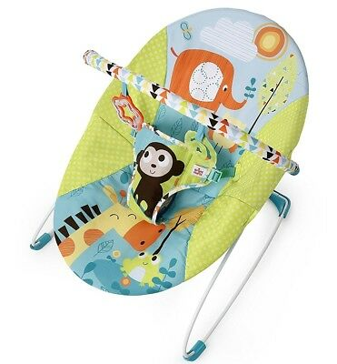 NEW Bright Starts Pattern Pals Vibrating Bouncer with Toy Bar