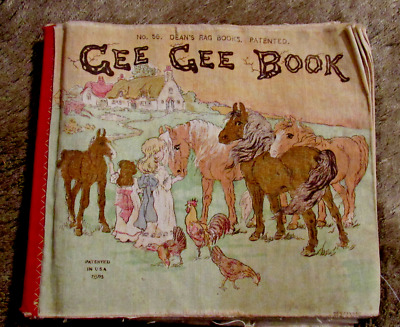"""1914 Strictly on Horses  """"DEAN'S RAG BOOK"""" 16 pg CHILD'S BOOK  Made in London"""