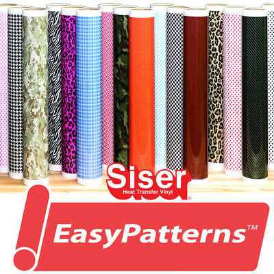 Siser EasyPatterns® HTV Heat Transfer Vinyl for T-Shirts by the Foot/Yard Roll