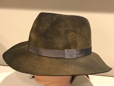 728ecc3955d KANGOL LiteFelt Wool Felt Aged Barclay Trilby Brown Camo Hat Cap Medium NEW