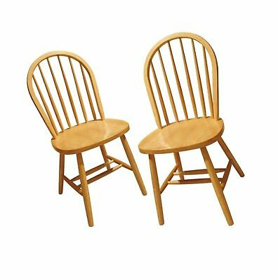 Superieur Winsome Wood Windsor Chair, Natural, Set Of 2