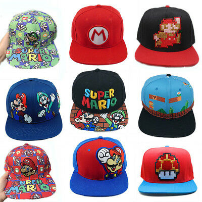 Super Mario Bros Series Hat Snapback Cap Unisex Adjustable Baseball Hats New