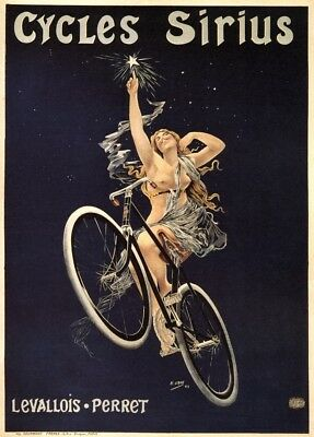CYCLES SIRIUS, France, 1899 by H. Gray, 250gsm A3 Belle Epoque Cycling Poster