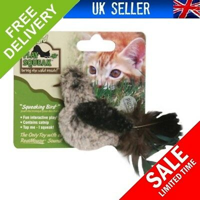 NEW OurPets Play-N-Squeak Backyard Bird Catnip Cat Toy FAST SHIPPING ..