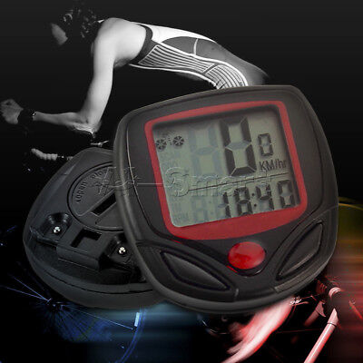 New Bicycle Bike Cycling Computer LCD Odometer Speedometer Stopwatch Speed meter