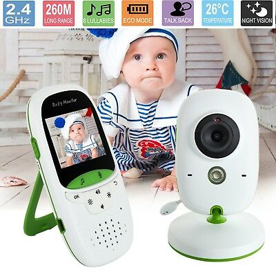 """2.4GHz Baby Monitor Camera 2.0"""" Audio System Safety Security Video Night Vision"""