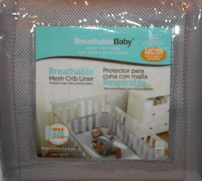 BreathableBaby Breathable Baby Mesh Crib Liner Gray