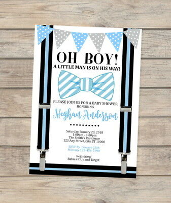 Bow tie little man baby shower invitation blue bowtie invite for bow tie little man baby shower invitation blue bowtie invite for baby boy shower filmwisefo