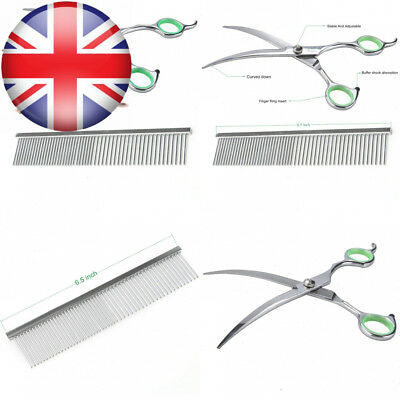 Dog Grooming Scissors Curved Round Tip Top for Dogs and Cats,Professional...