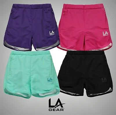 Girls LA Gear Lightweight Woven Shorts Bottoms Sizes Age 7-13 Yrs
