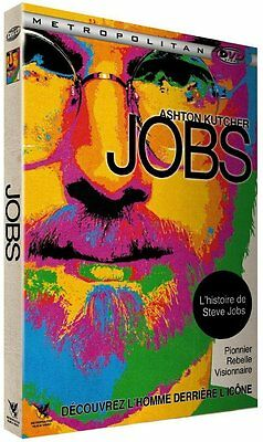 DVD  //  JOBS  //  Ashton Kutcher, Dermot Mulroney, Josh Gad  /  NEUF cellophané