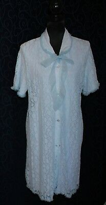 Rockabilly retro vintage dressing gown brunch coat negligee lace covered nylon