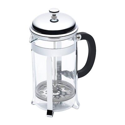 KITCHENCRAFT leXpress 8 Cup/1 ltr Classic Chrome Cafetiere/Plunger Coffee Making