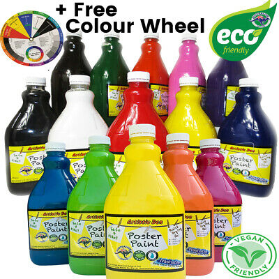 Kids Paint Set + Paint Pumps  2L Eco Kids Washable Paint Set Poster Paint +Gift