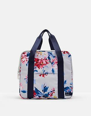 Joules Picnic Cool Bag in Grey Whitstable Floral in One Size