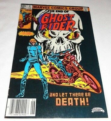 Ghost Rider #81 (Jun 1983, Marvel) Final Issue of 1st Series