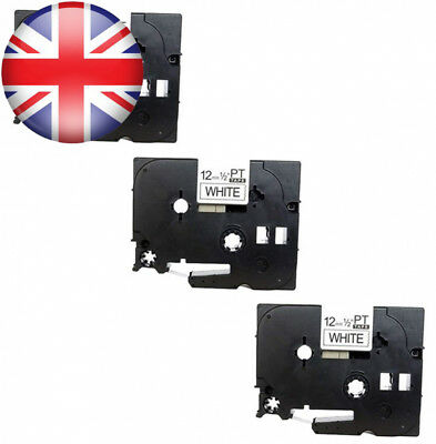 3 x Compatible Label Tape TZe231 / TZ231 Black on White (12mm 8m) | suitable...