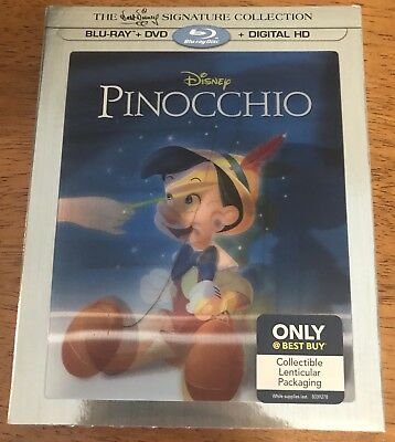 Pinocchio (Blu-ray/DVD/Digital, Only Best Buy) W/Lenticular Slipcover