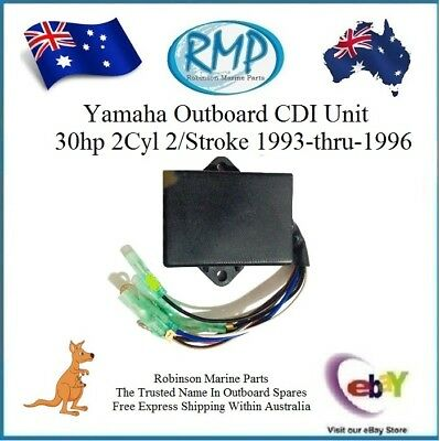 1 x New RMP CDI Unit Suits Yamaha Outboards 30hp 2cyl 2/Stroke # R 61N-85540-10