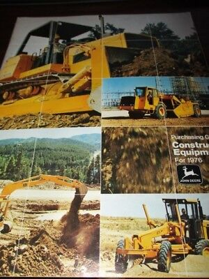 "John Deere ""Construction Equipment Purchasing Guide for 1976"" Sales Brochure"