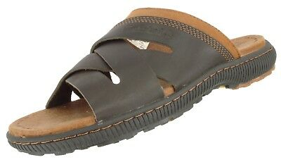 Details about SALE! NWT Timberland Earthkeepers Brown Distressed Leather Slide Sandals Men ANB