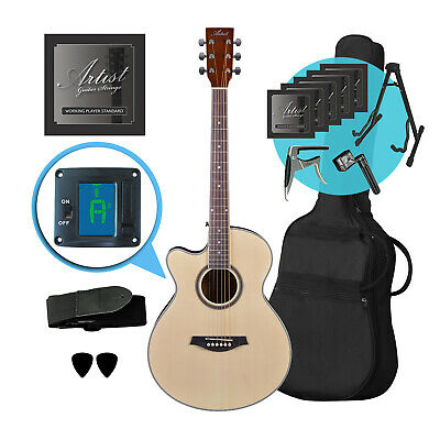 Artist LSPSNTL Left Handed Small Body Ultimate Acoustic Guitar Pack  - New