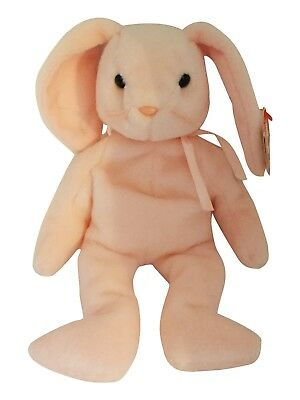 Rare TY Beanie Baby Hoppity the Pink Bunny  Retire Beanie Baby 1996 MWMT