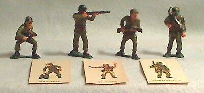 Marx Warriors of the World   1960  4 WWII Soldiers & 3 Cards