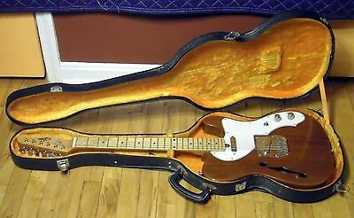 1972 Aria Model 1592 Tele Thinline w/ OHSC Lawsuit Era Japan MIJ 1582 Matsumoku