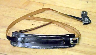 1960s Amacord Leather Hand-Tooled Guitar Strap with Shoulder Pad & Loop Lock USA