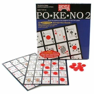 Pokeno Too 2 Game by Bicycle Blue Box 12 Unique Boards Brand New