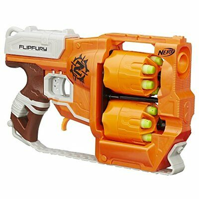 New Nerf Zombie Strike FlipFury Blaster Toy Gun Soft Darts Bullet Kids Game Toy