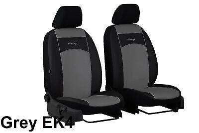 "Ford Focus Mk3 2011 Onwards Eco Leather ""Tuning"" Front Universal Seat Covers"