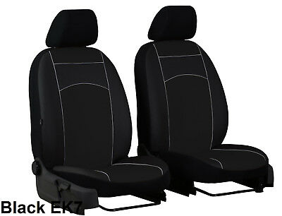 SKODA FABIA Mk2 2007-2014 ECO LEATHER FRONT UNIVERSAL SEAT COVERS