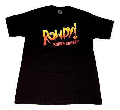 90ed13e961a Ronda Rousey ROWDY RONDA ROUSEY WWE Authentic T-Shirt OFFICIAL LICENSED NEW