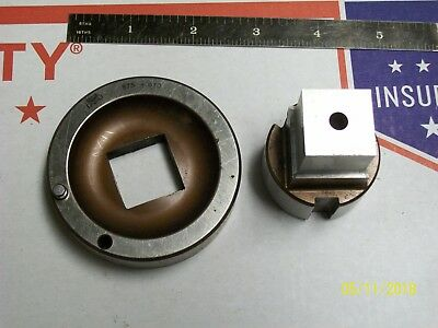 """.010 1 2 inch Turret Punch Press  Punch /& Die Set MATE 2/"""" Square  SET 2.000"""