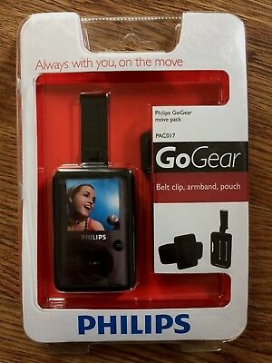 Phillips Go Gear PAC017 Move Pack Accessory Kit Belt clip Armband Pouch NEW