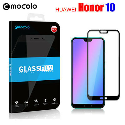 2X For Huawei Honor 10 Full Covered Tempered Glass Screen Protector Film & Case