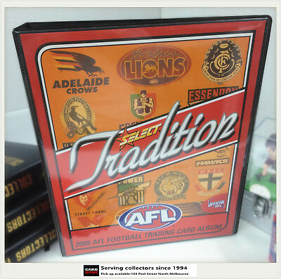 2005 SELECT AFL TRADITION TRADING CARD OFFICIAL ALBUM (No pages)-RARE
