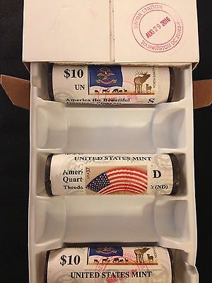 2018 P D S Voyageurs National Park Stamped & Canceled 3 QUARTER ROLLs PDS 18