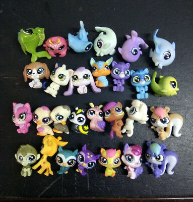Random 10pcs Littlest Pet Shop Mini LPS Animals Figures Gift Toys No Repeat
