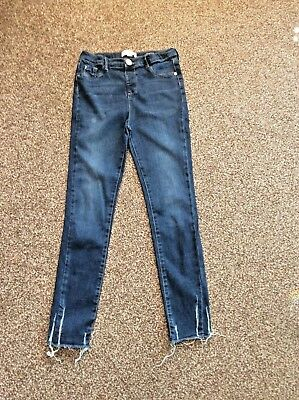 Girls River Island Molly Jeans Age 11 Years In Excellent Condition