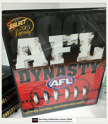 2005 SELECT AFL DYNASTY TRADING CARD OFFICIAL CARD ALBUM (No Pages)-