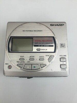 Sharp MD-MT16E Portable Minidisc Recorder/Player. Tested Working