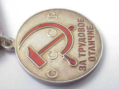1945 Russian Soviet Military 999 Silver Medal Distinguished Labor Award Wwii War